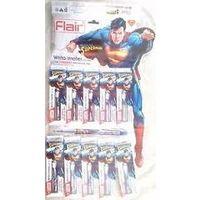 Flair Writo Meter Superman Gel Pen, Blue, Pack of 5