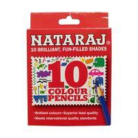 Nataraj Colour Pencils - 85 mm, 10 Colours, Pack of 5
