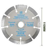 Taparia DBS-4 110Mm Diamond Cutting Blade Segmented Cut (Pack of 10)