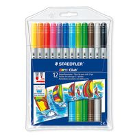 Staedtler Noris Club Fibre Tip Pen Duo 12 Shades (320 NWP12)
