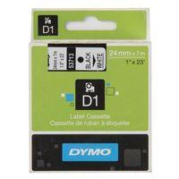 Dymo D1 TAPE 24MM BLACK/WHITE