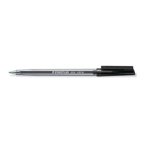 Staedtler Stick Medium Ballpoint Pen, Blue (Pack Of 10) 430 M- 3