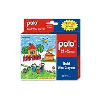 Polo Bold Wax Crayons 24+ 2 Colour