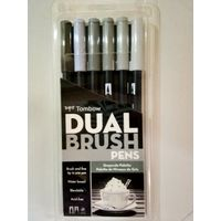 Tombow Dual Brush Pen 6 Shades (ABT-6C GR)