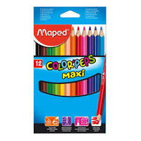 Maped Maxi Color Peps Colour Pencil, 12 Shades