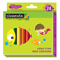 Classmate Wax Crayons - 24 Colours, Pack of2