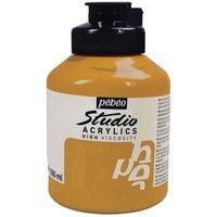 Pebeo Studio Acrylic Colour Jar 500ml Yellow Ochre (27)