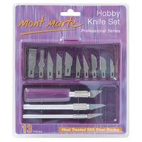 Mont Marte Hobby Knife Set SK5 Blades 13pce (MACR0004)