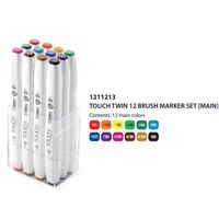 Shinhan Touch Twin Brush Marker Assorted (Set of 12) (1211213)