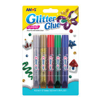 Amos Glitter Glue, Metallic 10.5 ML, 5 Pcs (GCL10B5)