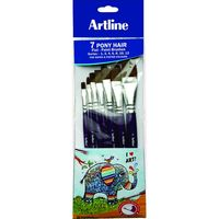 Artline Paint Brush- Pony Flat Set Of 7