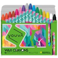 Navneet Youva Wax Crayons 16 Shades 35034 (Pack of 5)