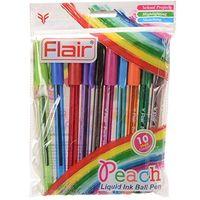 Flair Peach Liquid Ink Ball Pen (Pack of 50)