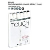 Shinhan Touch Twin Brush Marker Grey Colours (Set of 6) (1200604)
