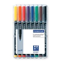 Staedtler Lumocolor Permanent Medium Pen 8 Shades (317 WP 8)