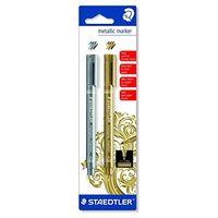 Staedtler Metallic Marker (Silver & Gold) 8323 SKB2