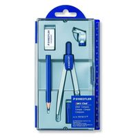 Staedtler Noris Club School Compass with Lead Part, Pencil, U-Adapter (550 60 S1)