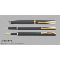 Pierre Cardin Golden Eye Pen Set (Set of Ball Pen, Roller Pen & Fountain Pen)