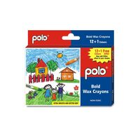 Polo Bold Wax Crayons 12+ 1 Glitter