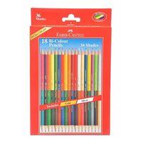 Faber Castell Bi-Colour Pencil, 18 Shades