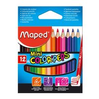 Maped Mini Color Peps Colour Pencil(12 Shades)