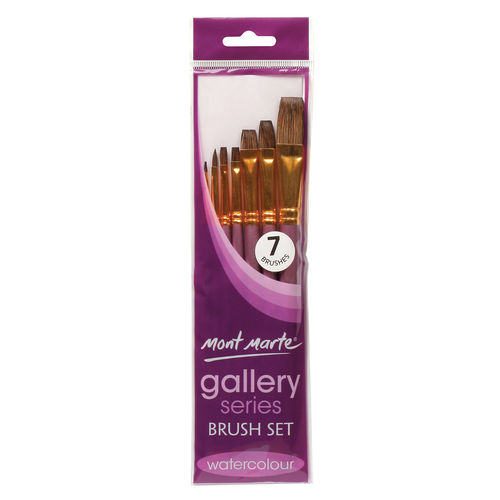 Mont Marte Gallery Series Brush Set Watercolour 7pc (BMHS0026)