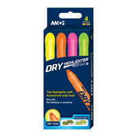 Amos Dry Highlighter, 4 Pcs Set (HLD-4P)