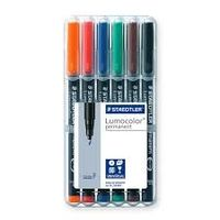 Staedtler Luma Colour Pens Fine Permanent (Set of 6 Colours) 318 WP 6