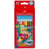 Faber Castell Water Colour Pencil, 12 Shades(Full Length)