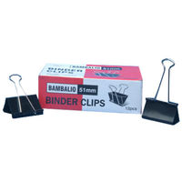 Bambalio Binder Clips 51 mm (Pack of 12Pcs)