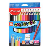 Maped Colour Peps Triangular Shaped Colour Pencils (36 Shades)