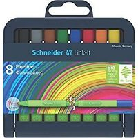 Schneider Link-It Fineliner Pen (Pack of 8, Multicolor)