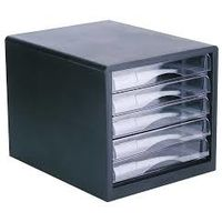 Deli Plastic 5 Drawer File Cabinet (W9775)