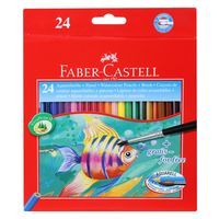 Faber Castell Water Colour Pencil, 24 Shades(Full Length)