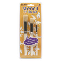Mont Marte Professional Stencil Brush Set 12/8/4 (BMHS0007)