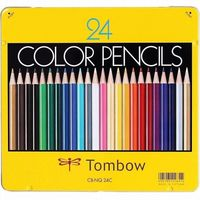 Tombow 1500 Series Colour Pencils 24 Shades Tin Packing (CB-NQ24C)