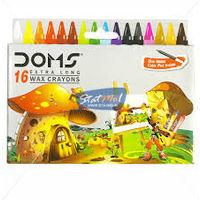 Doms Long Wax Crayons 16 Shades