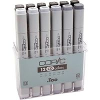 Copic Markers Cool Gray Set (12 Colours, CG12)