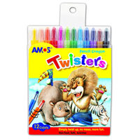 Amos Twister Crayons, 12 Pcs (RC12PST)