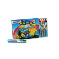 Kores Jumbo Wax Crayons 12 Shades