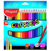 Maped Colour Peps Triangular Shaped Colour Pencils, 24 Shades(Card Board Box)