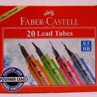 Faber Castell Glitter Lead Tubes - 0.5 HB (60mm) Assorted