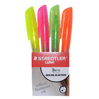 Staedtler Luna Highlighter Brite (Set of 4) (3681-S WP4)