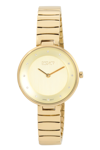 Ecstacy Women's Stainless Steel Band Watch E7519-GBGC, champagne, gold, gold