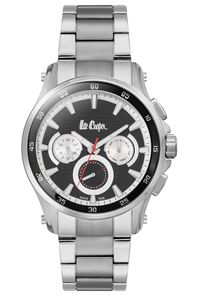 Men's Super Metal Band Watch -LC06538, silver, silver, black