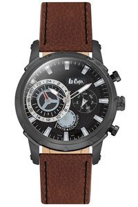 Men's Super Metal Band Watch -LC06520, black, black, brown