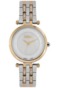 Women's Super Metal Band Watch -LC06589, white, rose gold, two tone rose gold