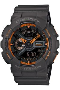 Men's Resin Band Watch -GA-110TS, black/orange, black, black