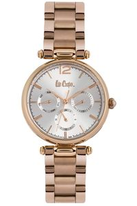 Women's Super Metal Band Watch -LC06619, silver, rose gold, rose gold