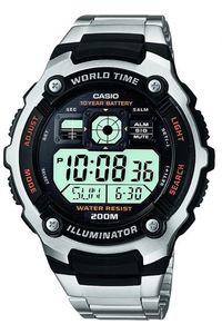 Men's Resin Band Watch - AE-2000, black, silver, black